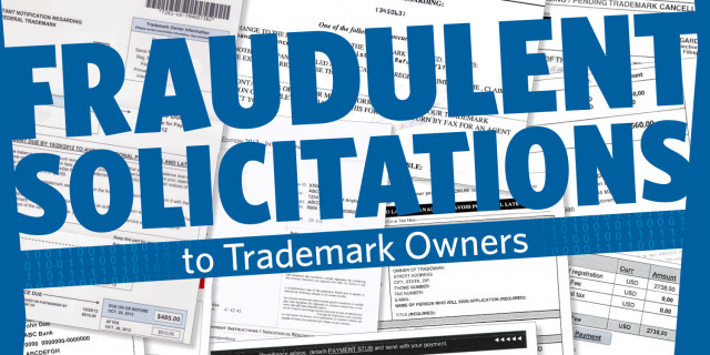 Fraudulent Solicitations To Trademark Owners  Uspto