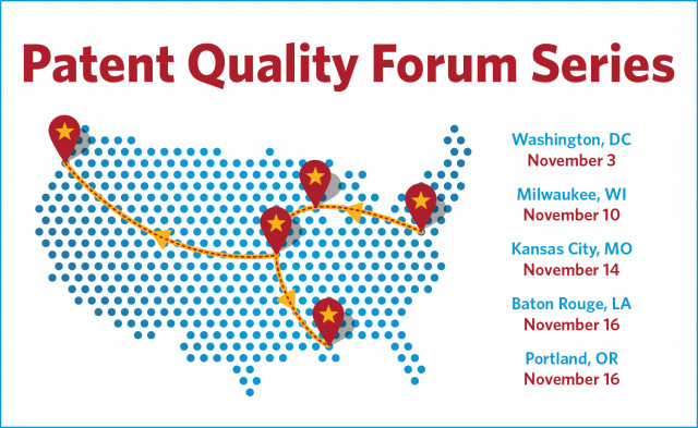 Patent Quality Forum roadshow map