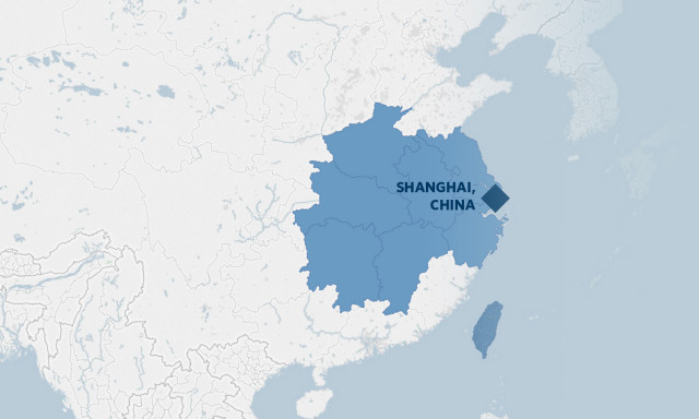 Map of Shanghai Regional Post for Mike Mangelson, IP Attaché for Shanghai.