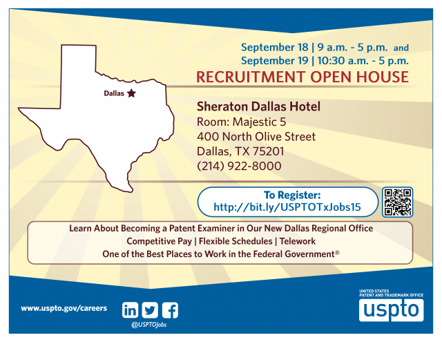 Texas Patent Examiner Recruitment Open House