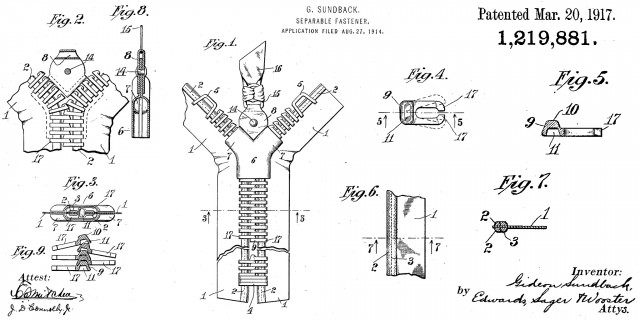 Zipper patents