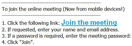 WebEx join meeting instructions