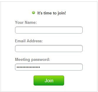 WebEx time to join dialog