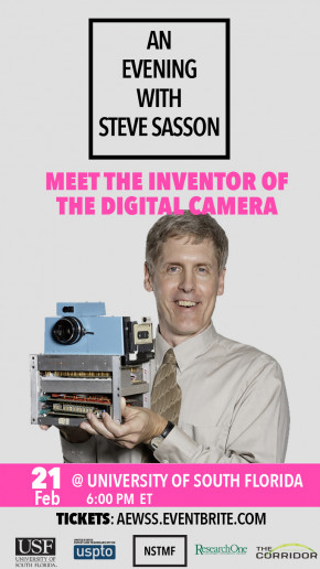 Flyer for An Evening with Steve Sasson