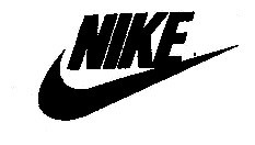 The term NIKE with a curved band below it