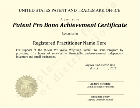 Pro bono certificate for individuals