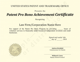 Pro bono certificate for law firms