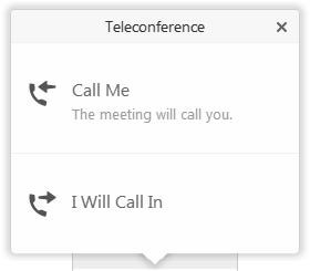 WebEx teleconference dialog