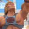 Photo of a He-man statue towering high above.