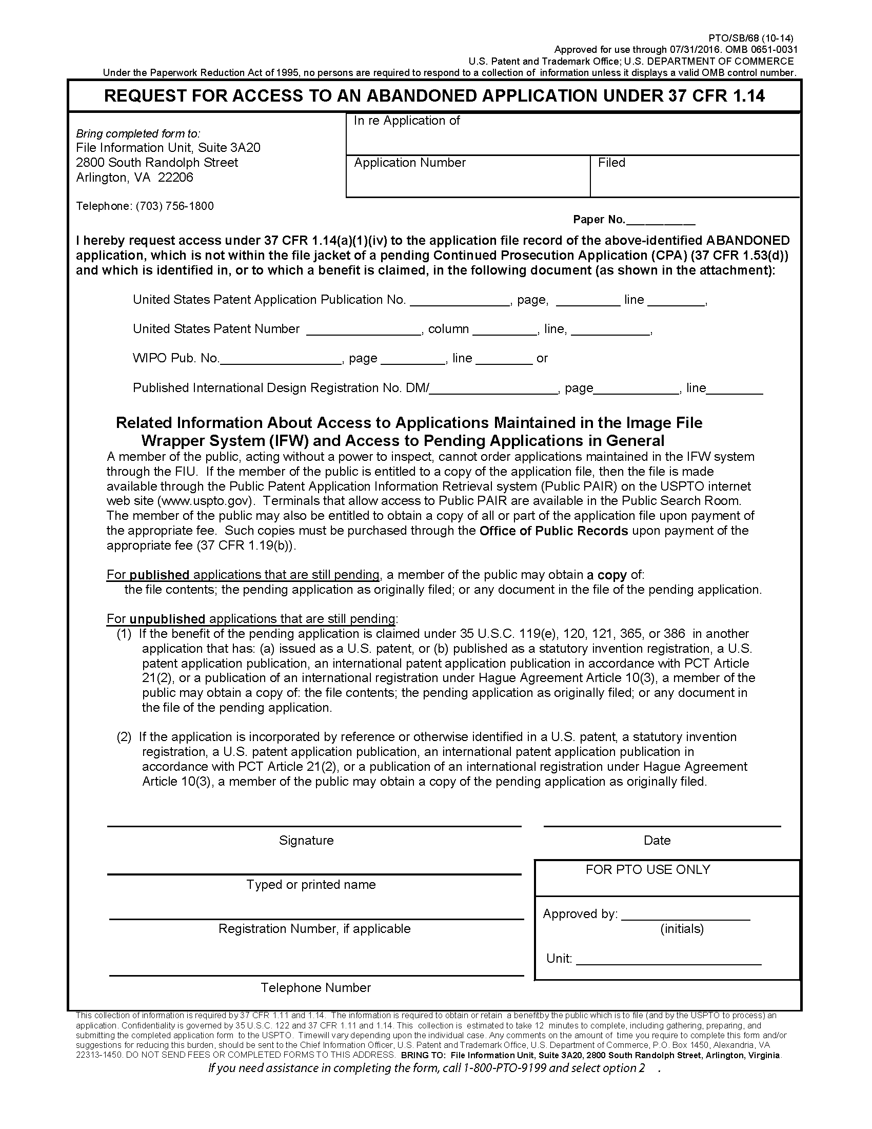 provisional patent template uspto - 103 right of public to inspect patent files and some