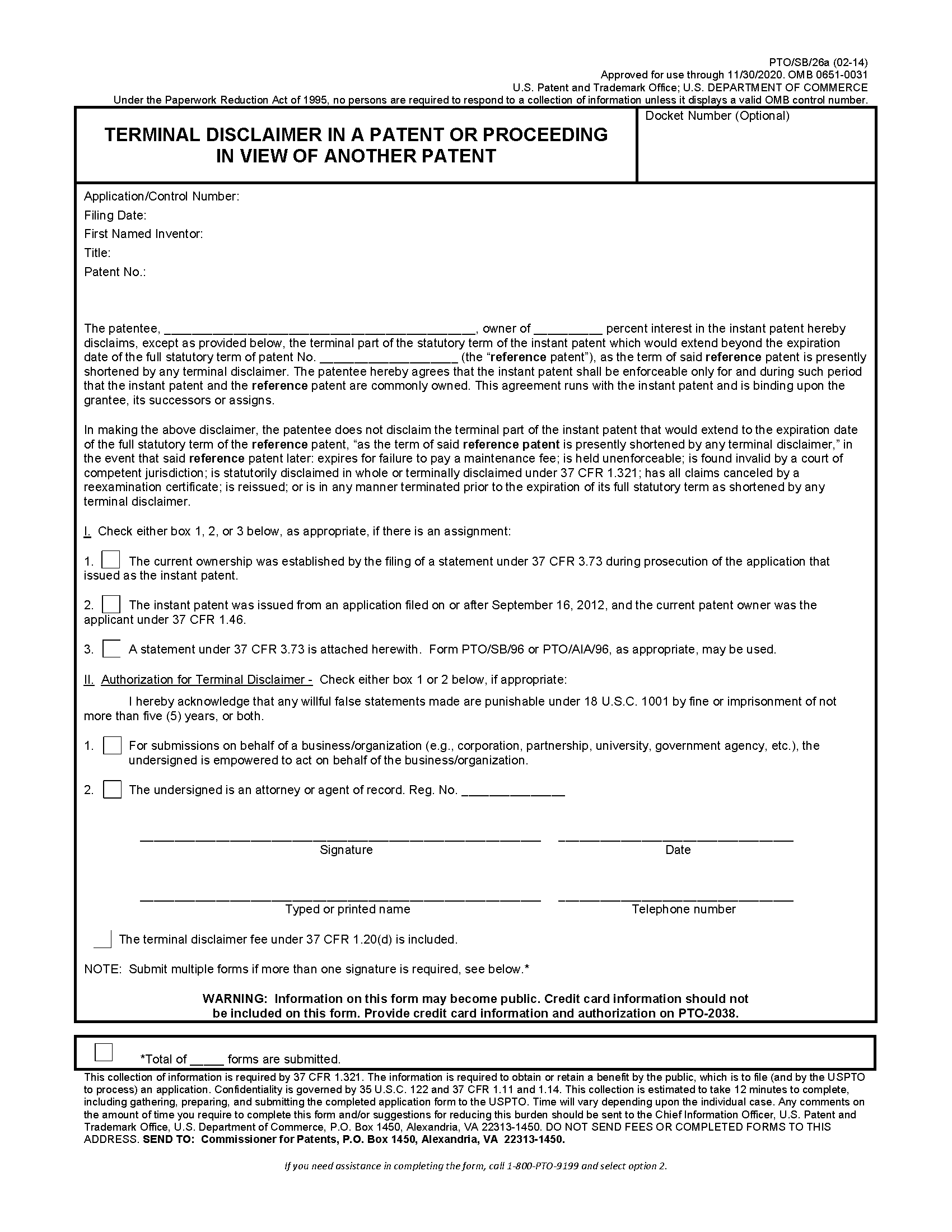 uspto patent assignment